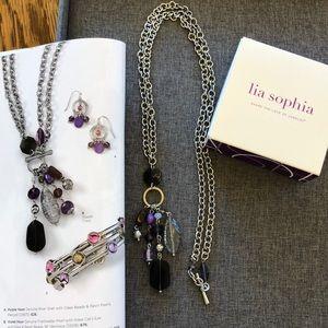 Lia Sophia necklace, Violet Hour